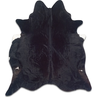 Cowhide 5' x 7' Area Rug - Black Brindle