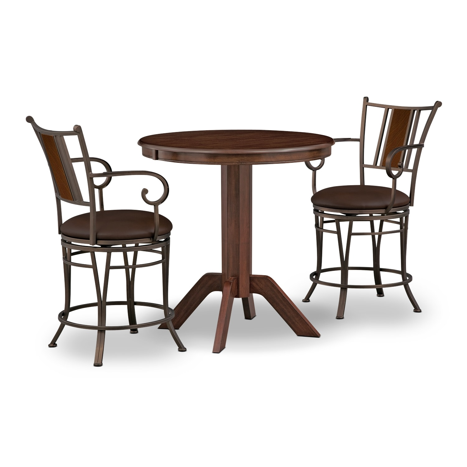 Accent and Occasional Furniture - Concord Camden 3 Pc. Counter-Height Dinette