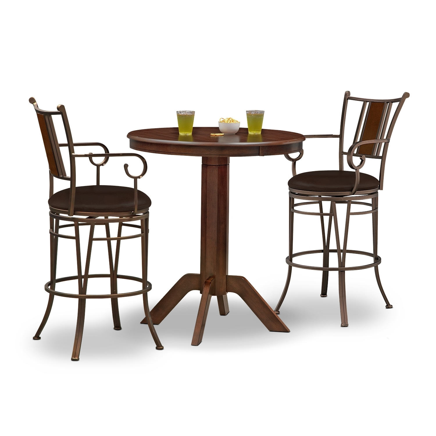 Accent and Occasional Furniture - Concord Camden 3 Pc. Bar-Height Dinette