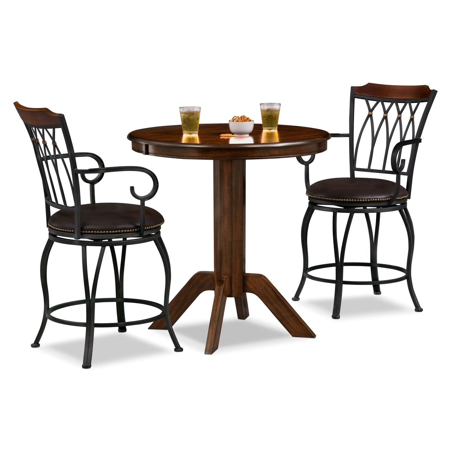 Accent and Occasional Furniture - Concord Winfield 3 Pc. Counter-Height Dinette