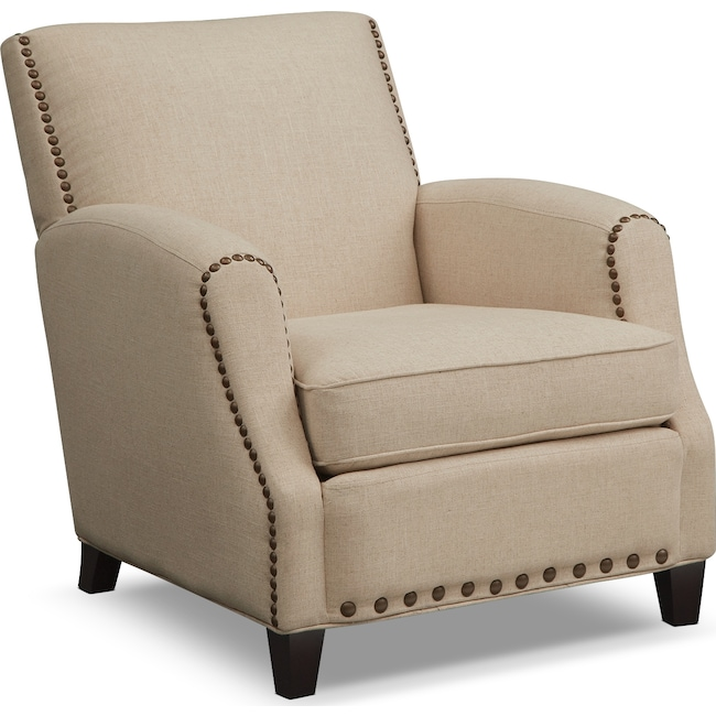 Living Room Furniture - Havana Accent Chair - Beige