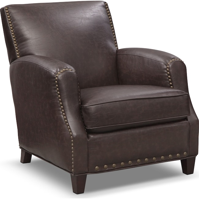 Living Room Furniture - Havana Accent Chair - Walnut