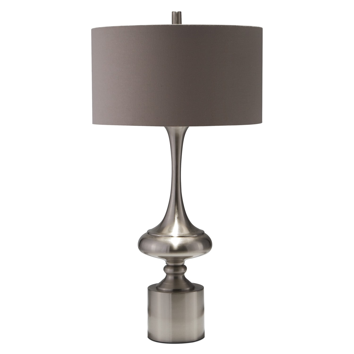 Silver Curve Table Lamp