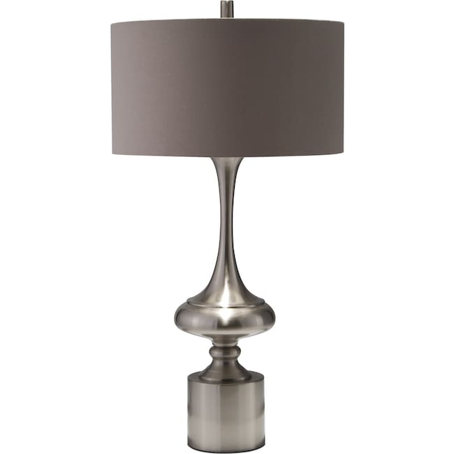 Home Accessories - Silver Curve Table Lamp