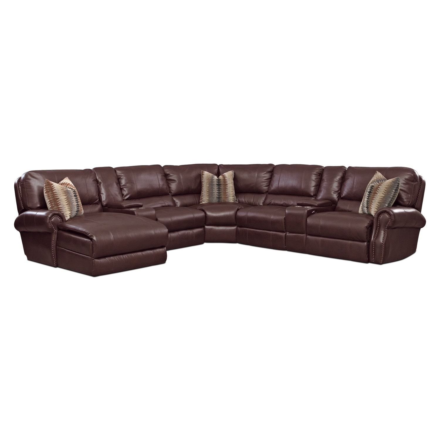 Princeton 5 Pc. Power Reclining Sectional (Reverse)