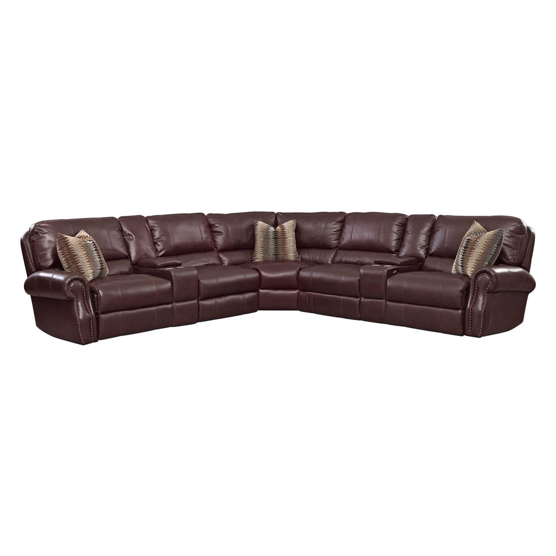 Living Room Furniture - Princeton 5 Pc. Power Reclining Sectional (Alternate Reverse