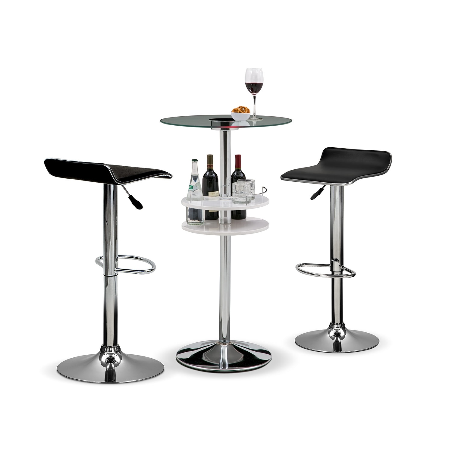Accent and Occasional Furniture - Reno Lisbon 3 Pc. Bar Set