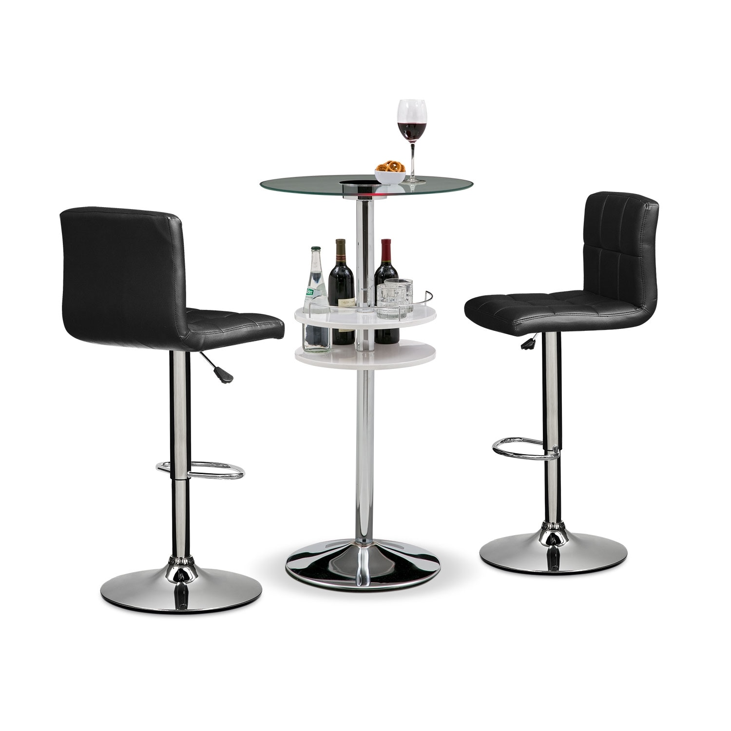 Accent and Occasional Furniture - Reno Marseille 3 Pc. Bar Set