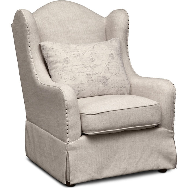 Living Room Furniture - Madeline Accent Chair - Beige