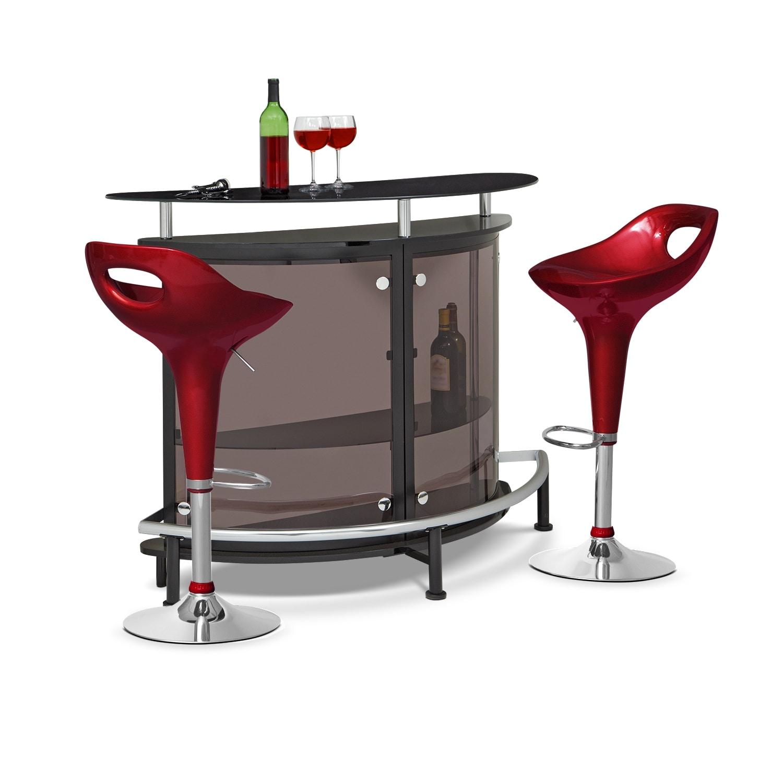 Vegas Drake 3 Pc. Bar Set
