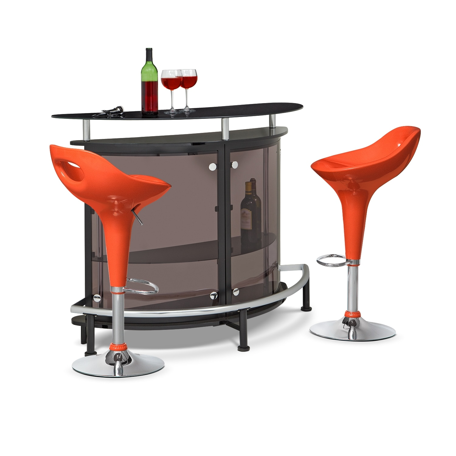 Accent and Occasional Furniture - Vegas Drake 3 Pc. Bar Set
