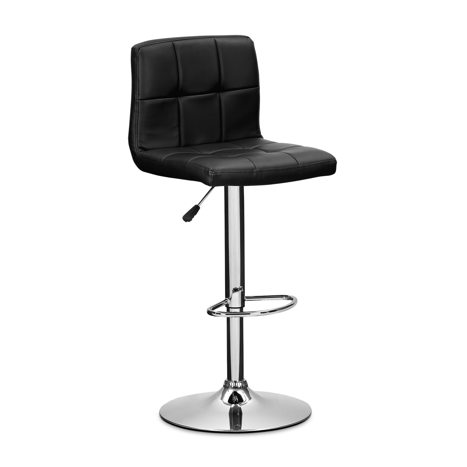 Marseille Black Adjustable Barstool
