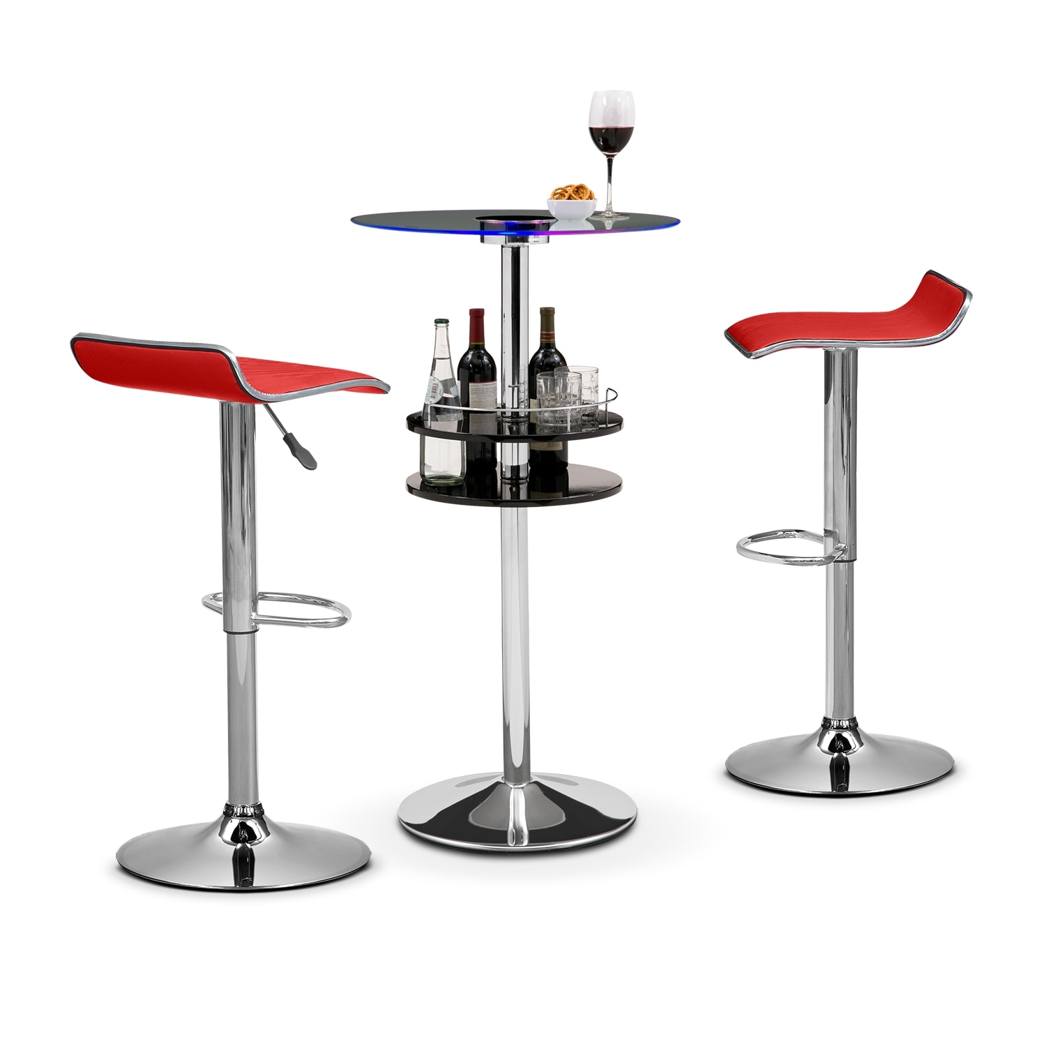 Accent and Occasional Furniture - Reno Lisbon II 3 Pc. Bar Set