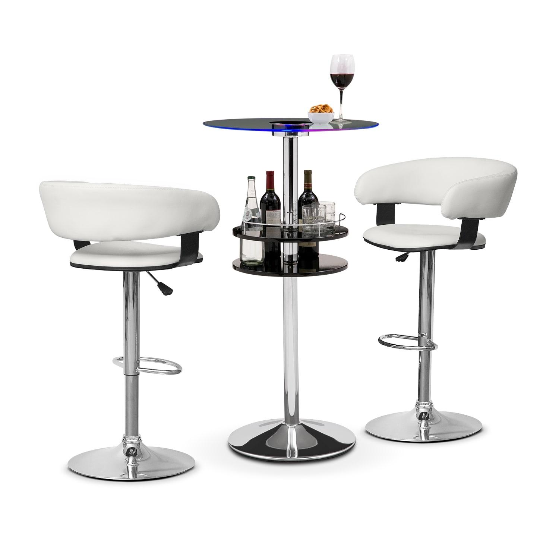 Accent and Occasional Furniture - Reno Glasgo II 3 Pc. Bar Set