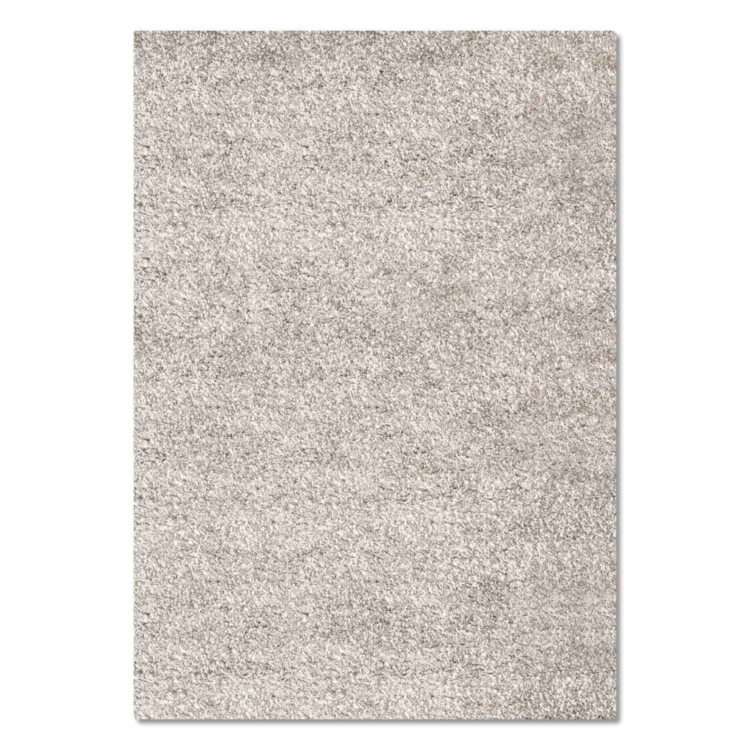 Comfort Light Gray Shag Area Rug (5' x 8')