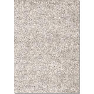 Comfort Light Gray Shag Area Rug (5' x 8')