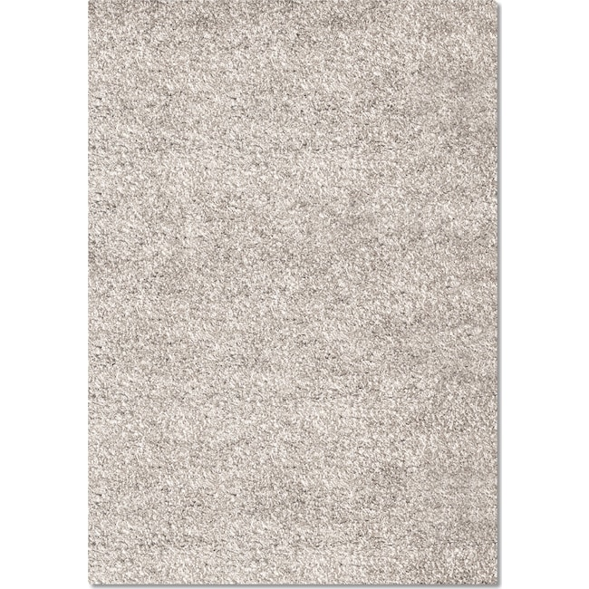 Rugs - Comfort Shag 5' x 8' Area Rug - Light Gray