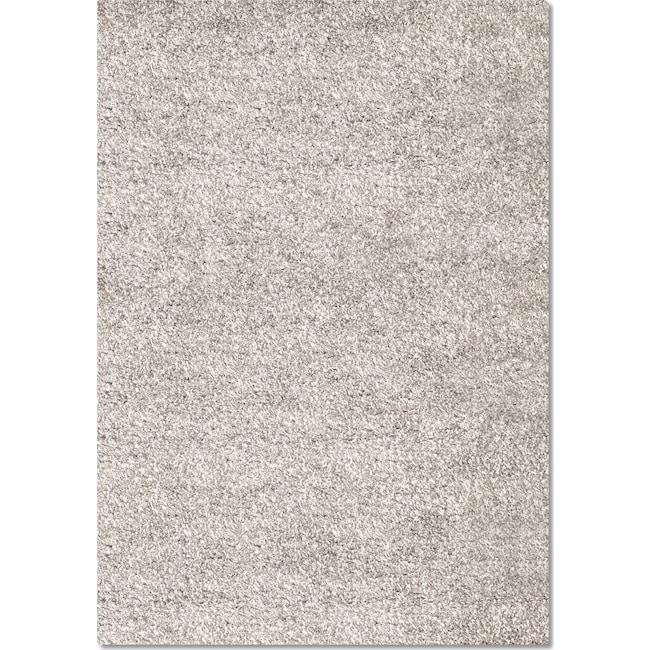 Rugs - Comfort Light Gray Shag Area Rug (8' x 10')