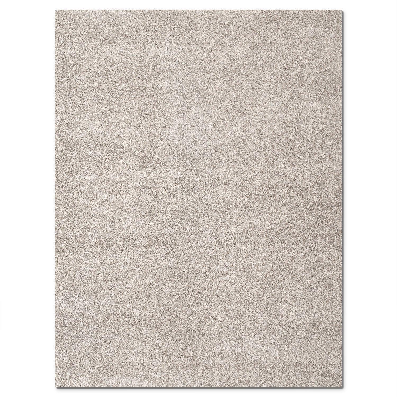 Rugs - Domino Gray Shag Area Rug (5' x 8')