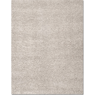 Domino Gray Shag Area Rug (8' x 10')