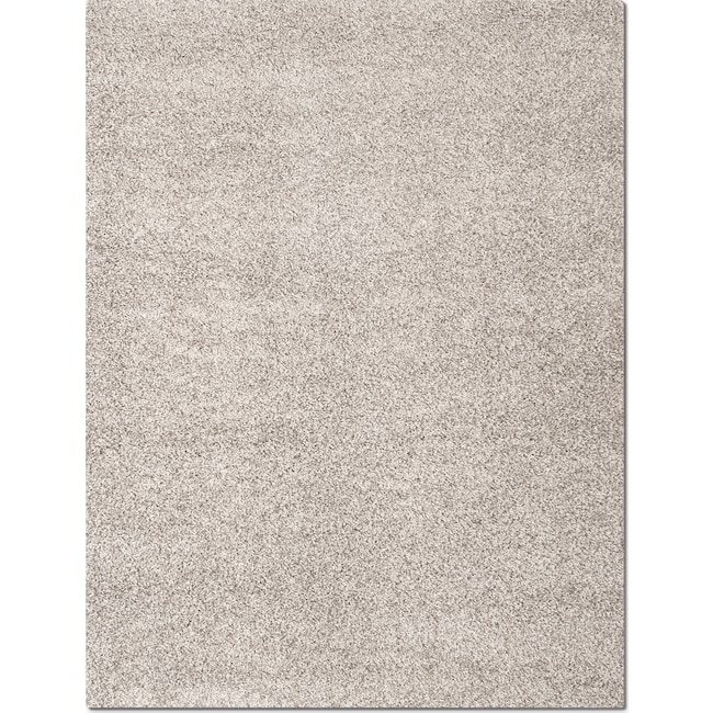 Rugs - Domino Shag 5' x 8' Area Rug - Gray