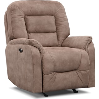 Darien Power Glider Recliner - Taupe