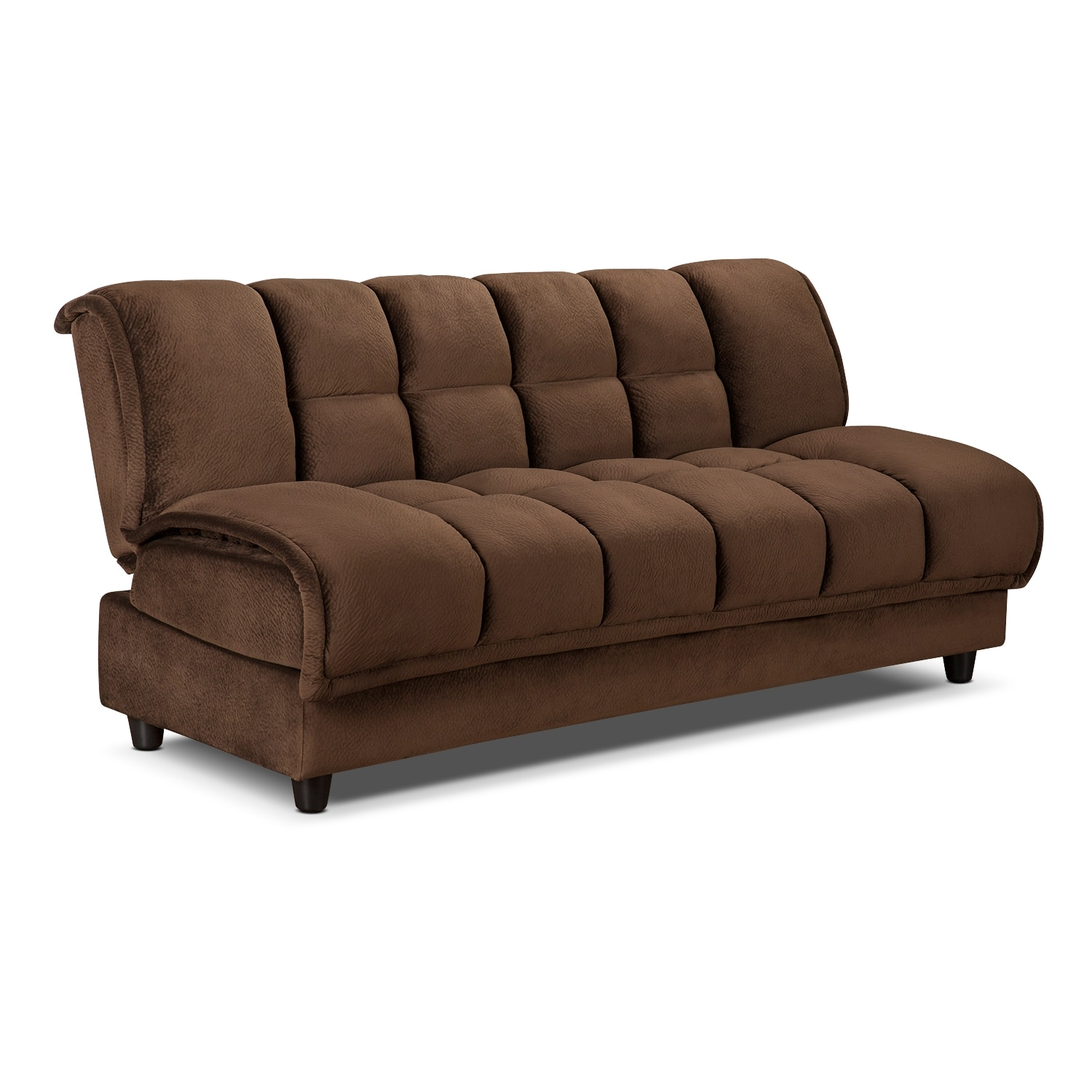 Bennett futon sofa bed espresso american signature for Sectional sofa bed hamilton