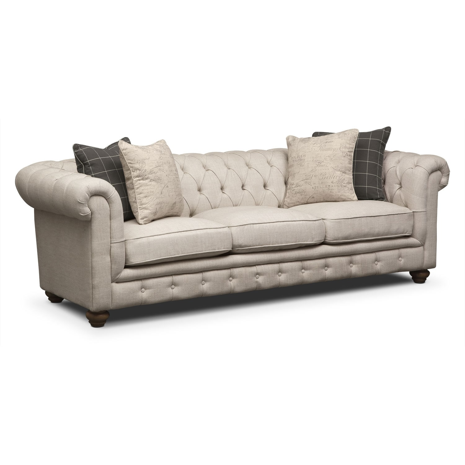 Brittany bronze sofa for Signature furniture