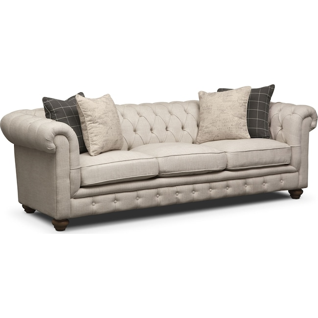 Living Room Furniture - Madeline Sofa - Beige