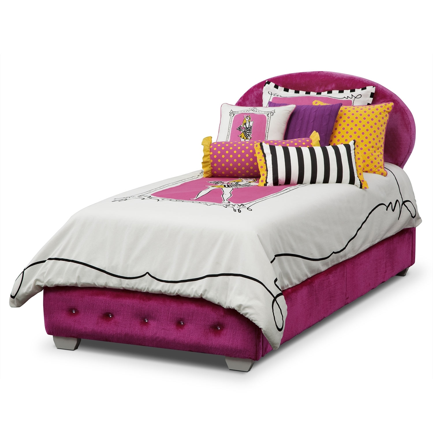 Accent and Occasional Furniture - Mandy Twin Bedding Set