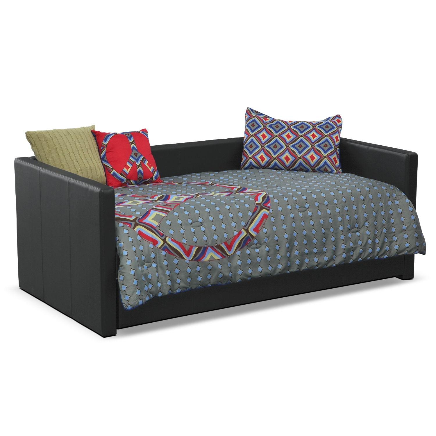 Accent and Occasional Furniture - Peace Sign Twin Bedding Set