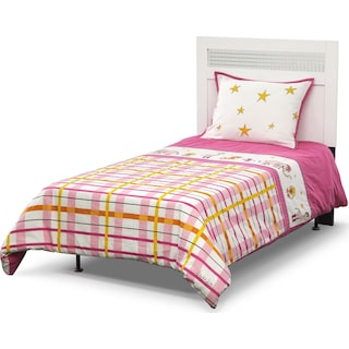 Punky Girl 3-Piece Full/Queen Comforter Set - Pink and Yellow