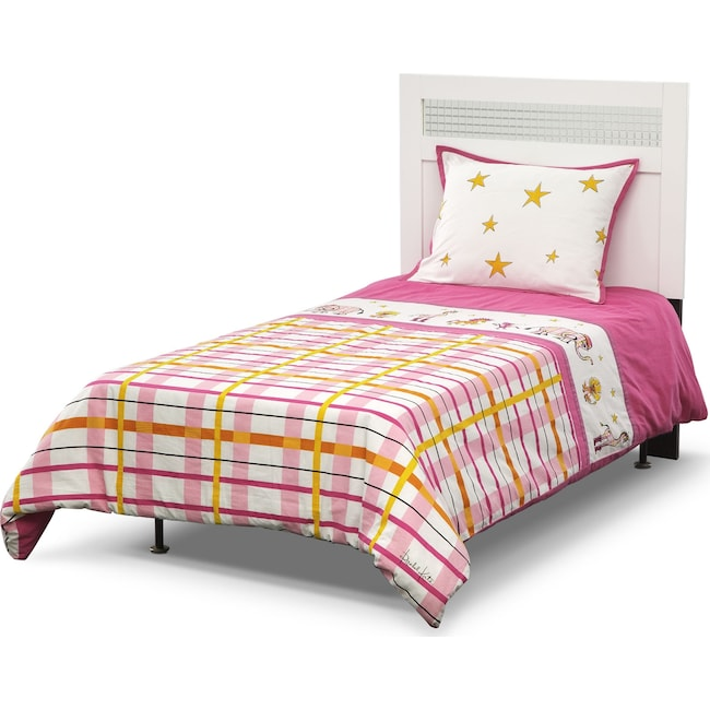 Accent and Occasional Furniture - Punky Girl 3-Piece Full/Queen Comforter Set - Pink and Yellow