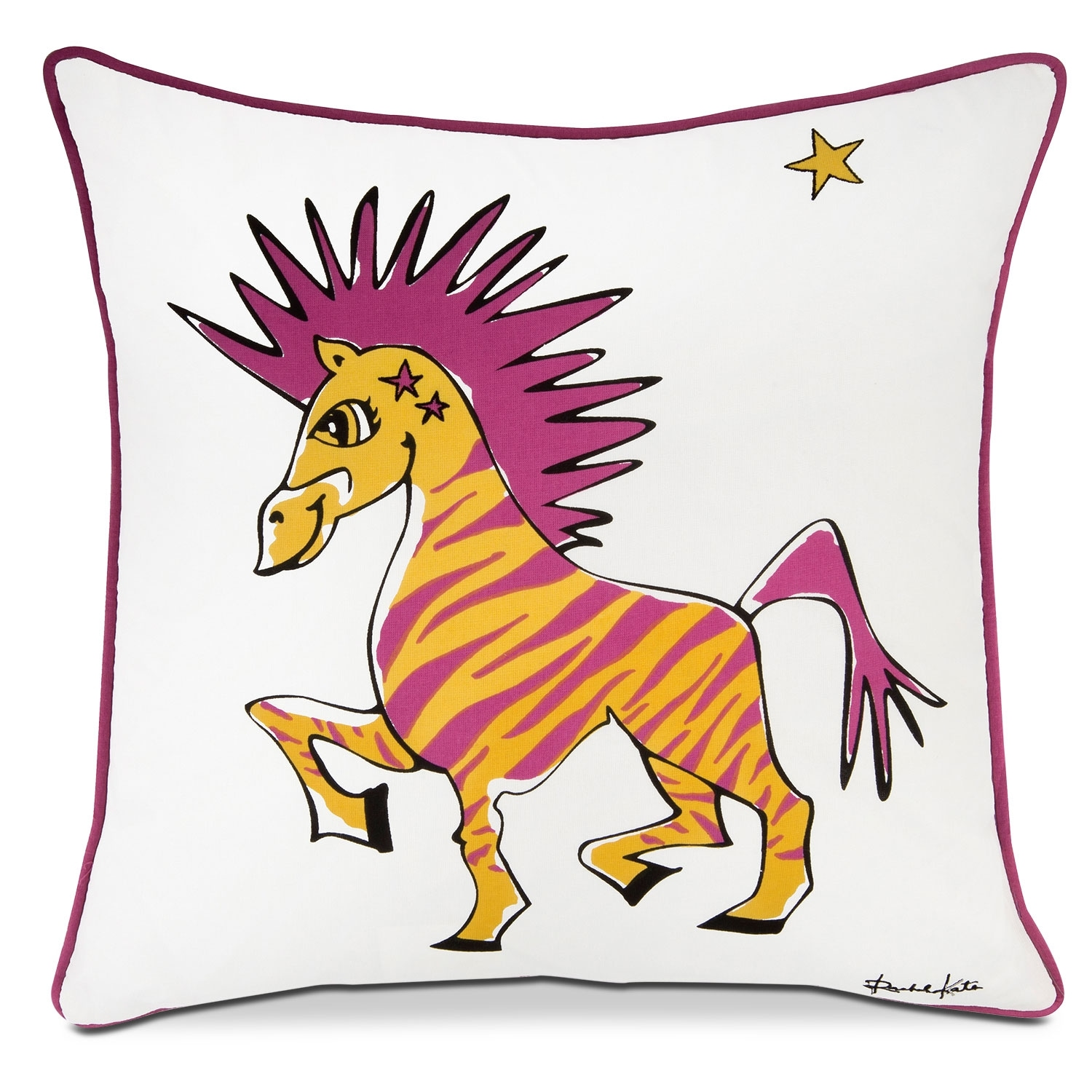 Punky Zebra Decorative Pillow