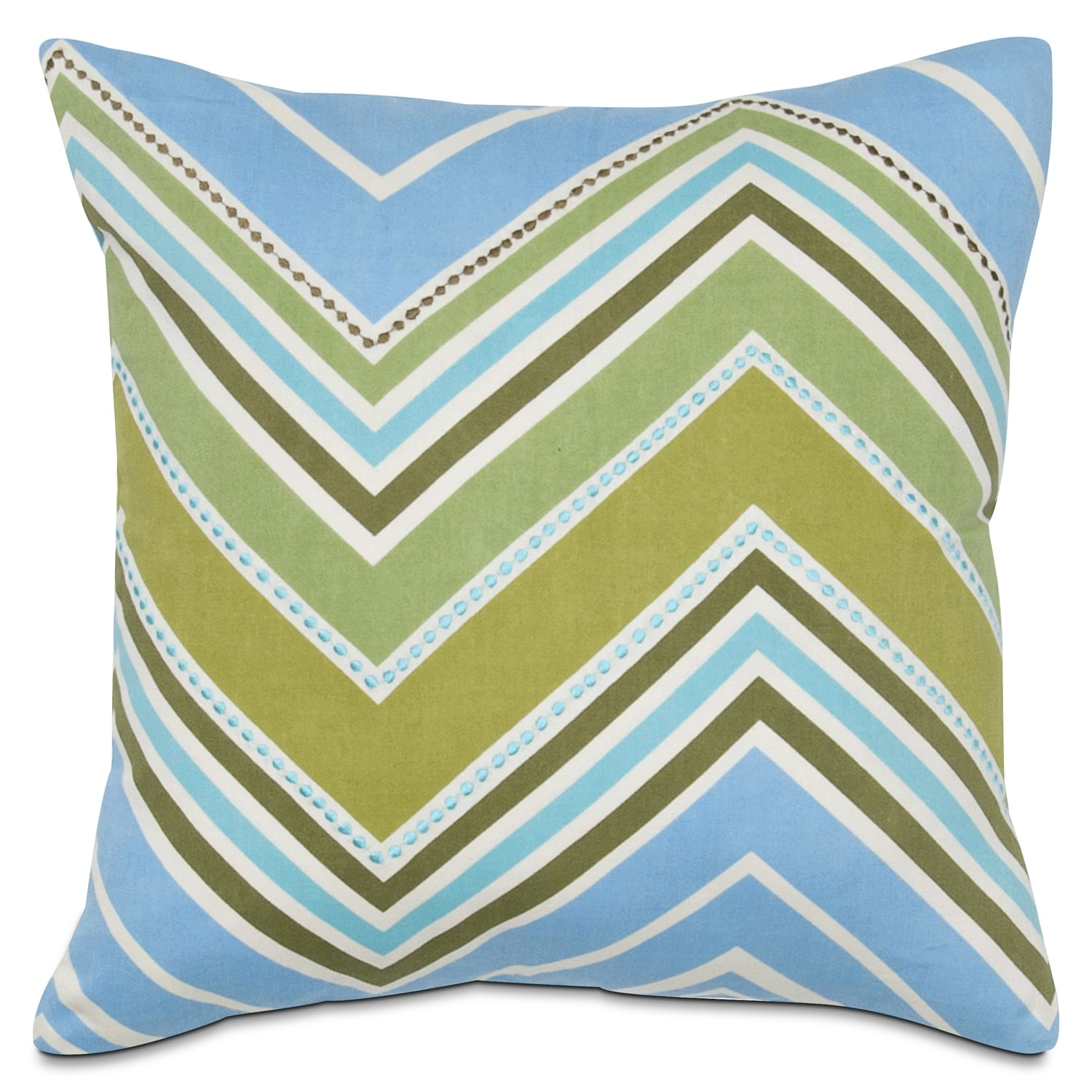 Accent and Occasional Furniture - Hippie Chick Wave Decorative Pillow