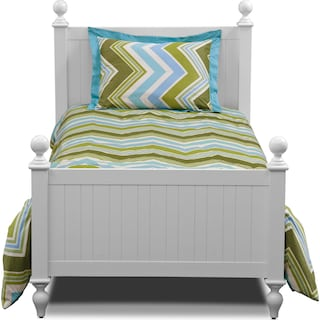 Happy Chick 3-Piece Full/Queen Comforter Set - Lime and Teal