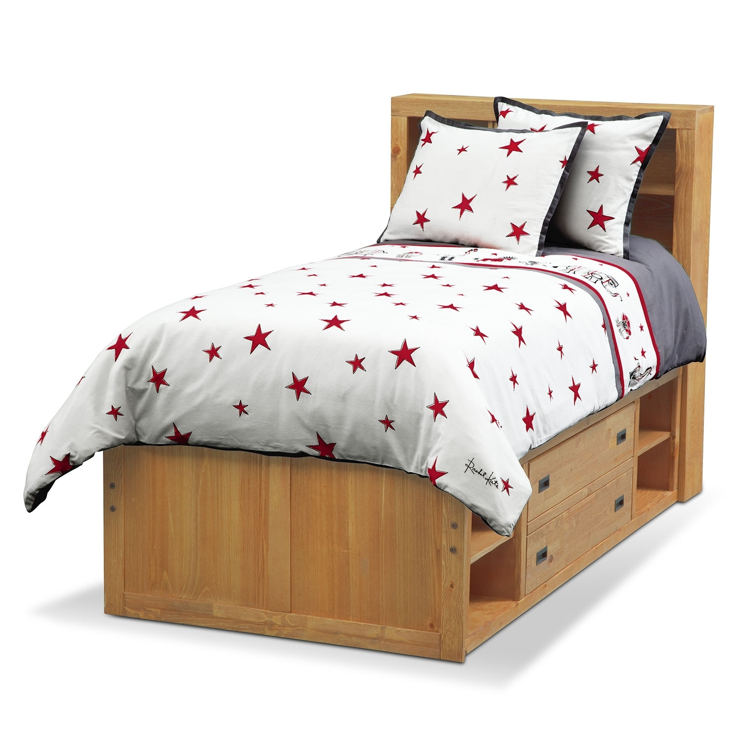 punker boys 2 piece twin comforter set white and red american signature furniture. Black Bedroom Furniture Sets. Home Design Ideas