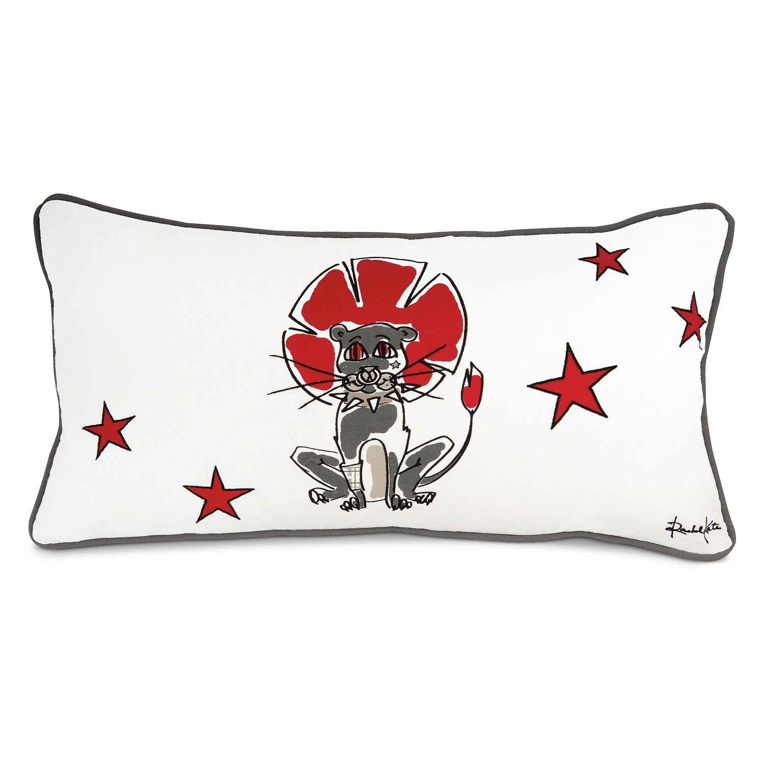 Punker Lion Decorative Pillow
