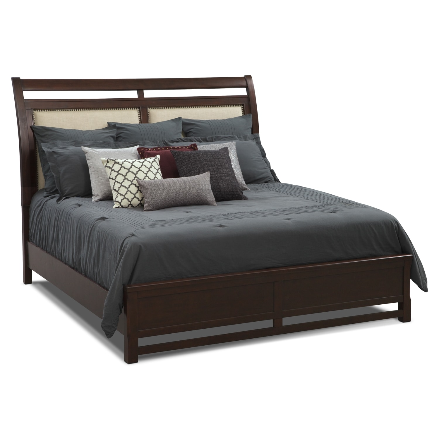 Accent and Occasional Furniture - Midnite in Monroe III Queen Bedding Set