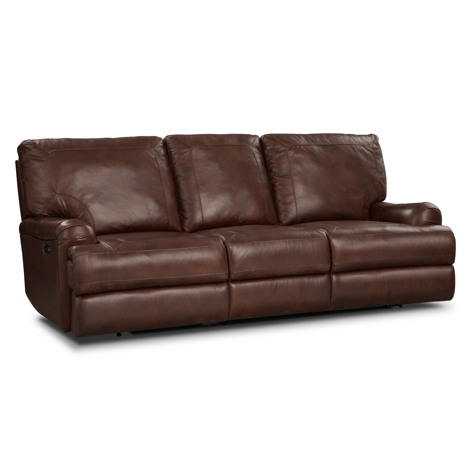 Kingsway Power Reclining Sofa - Brown
