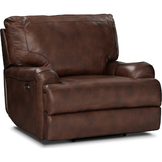 Kingsway Power Recliner - Brown