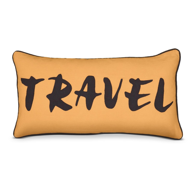 Travel Orange Decorative Pillow