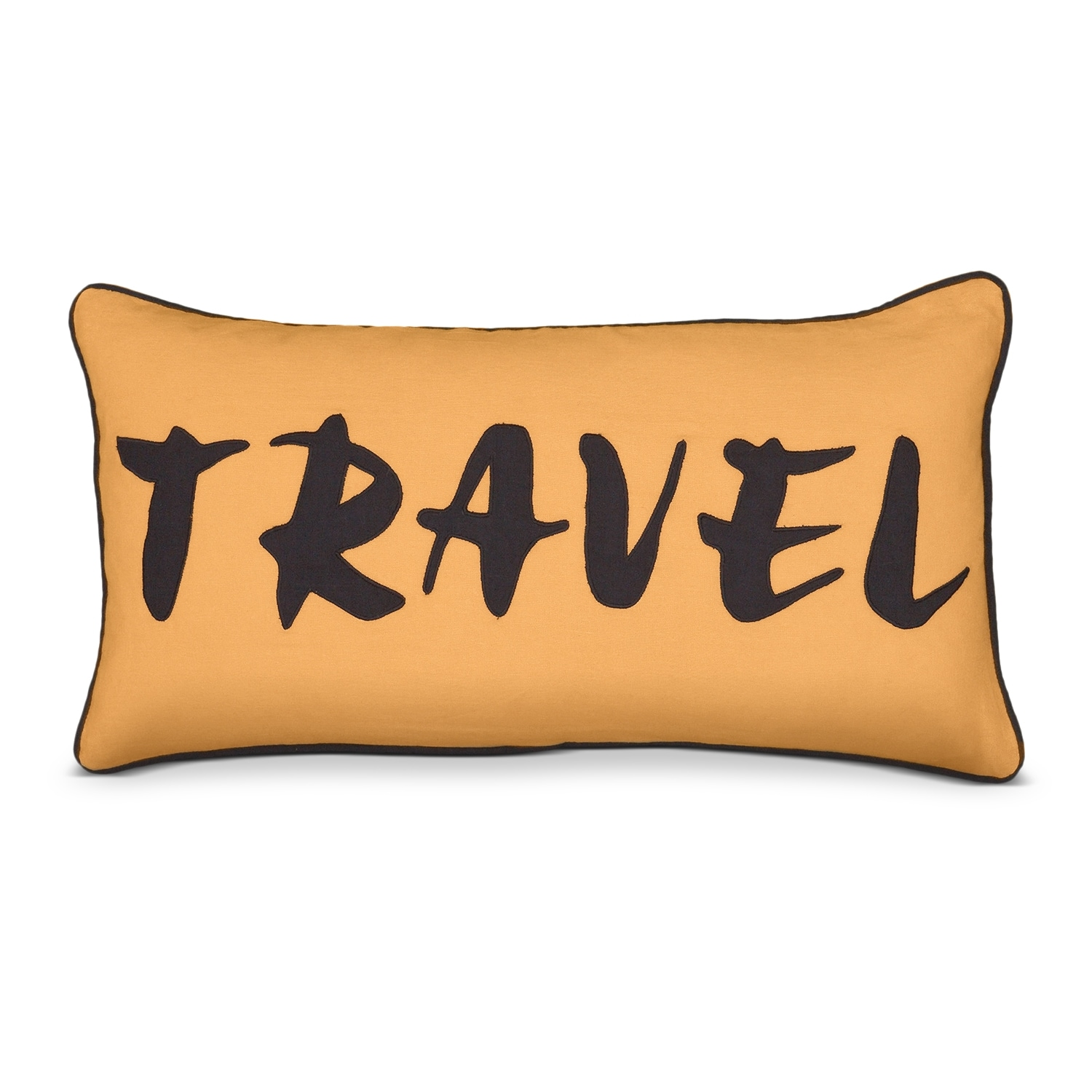 Accent and Occasional Furniture - Travel Orange Decorative Pillow
