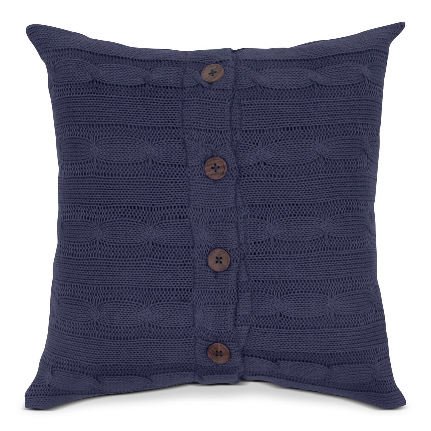 Accent and Occasional Furniture - Cable Navy Decorative Pillow