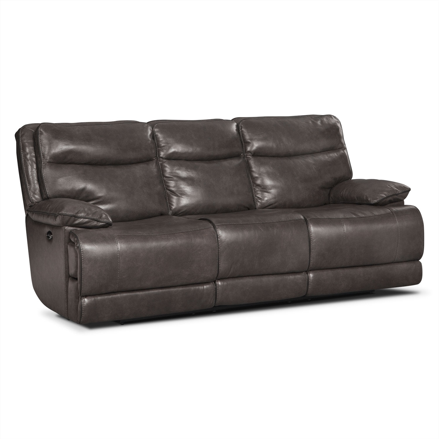 Monaco Power Reclining Sofa - Gray