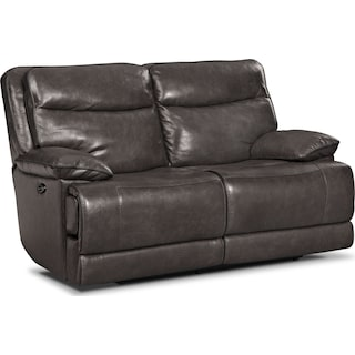 Monaco Power Reclining Loveseat - Gray