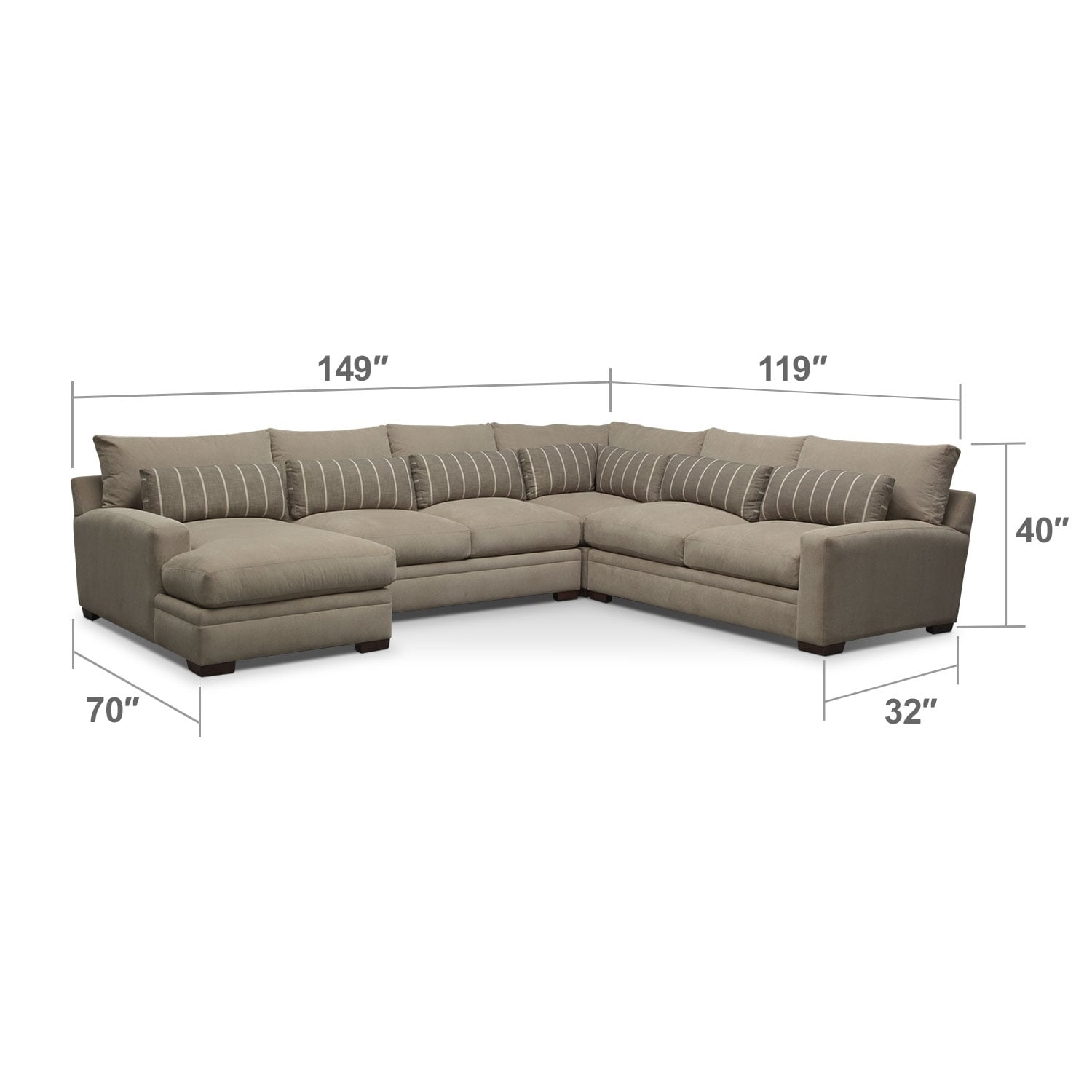 Ventura 4 Piece Left Facing Sectional Buff