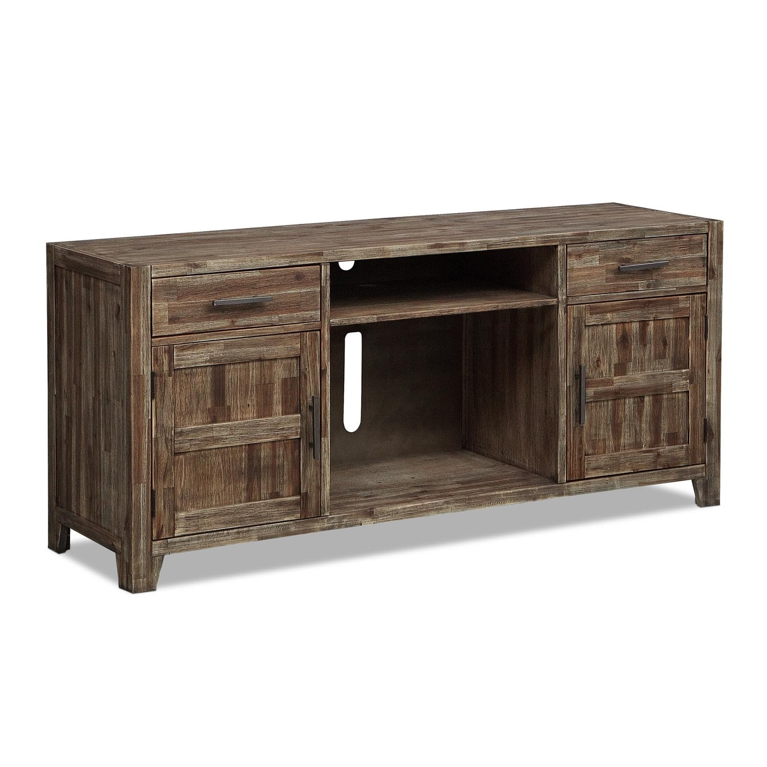 Entertainment Furniture - Brentwood TV Stand - Medium Brown
