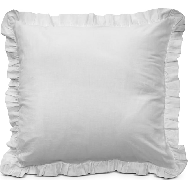 Accent and Occasional Furniture - Erin III Euro Sham - White