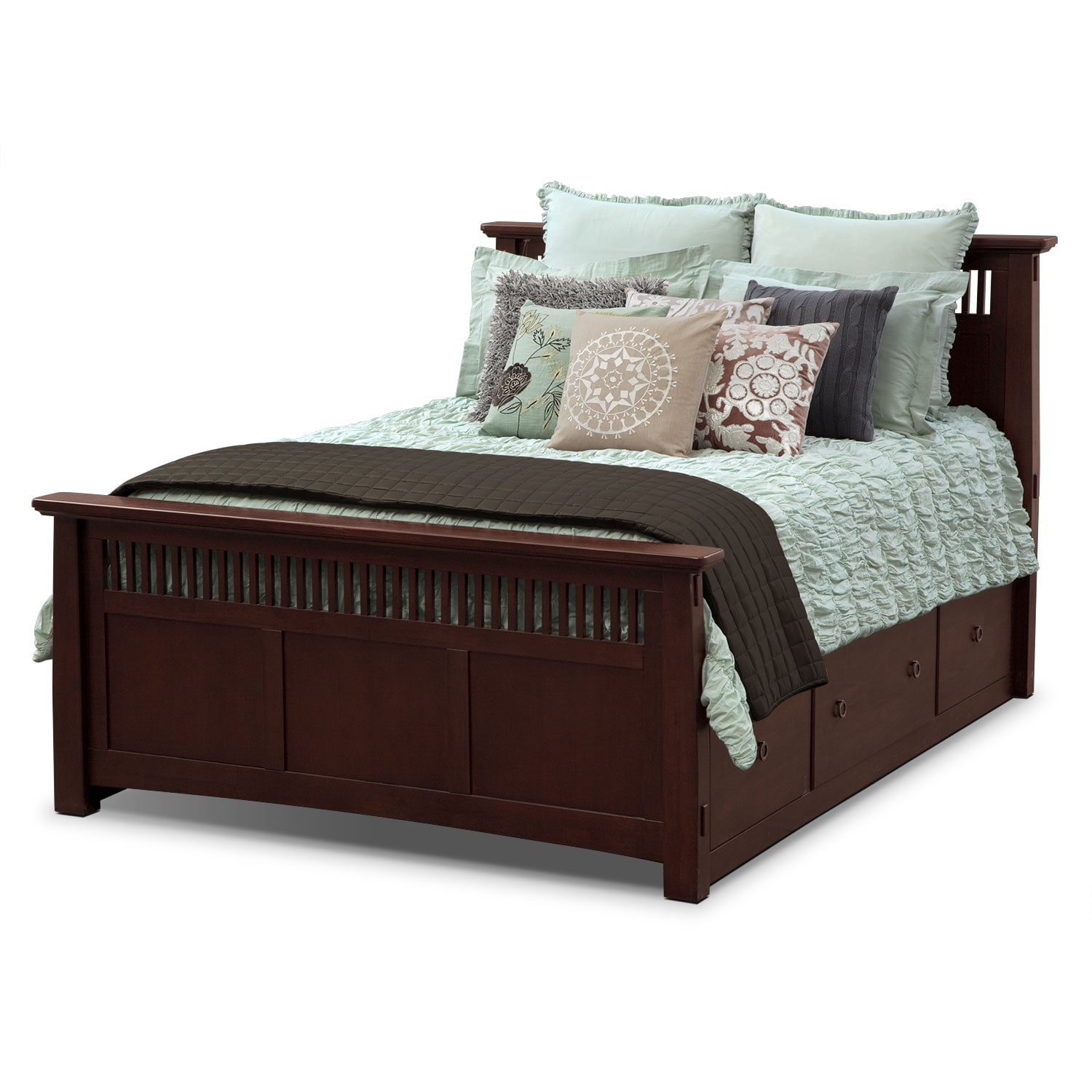 Kaitlin ii euro sham american signature furniture for Living room quilt